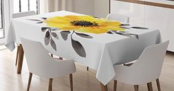 Ambesonne Flower Decor Tablecloth by, Watercolored Image of