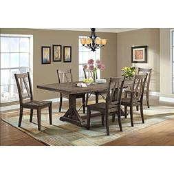 Picket House Furnishings Flynn Dining Set-Table & 6 Wooden S