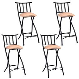COSTWAY Set of 4 Folding Bar Stools Counter Height Bistro Di