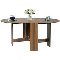 Folding Drop Leaf Extendable Dining Table Multifunction Roun