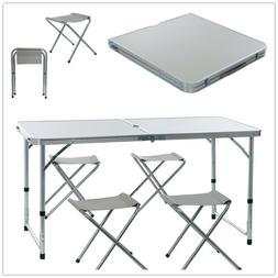 Folding Table Portable Outdoor Picnic Party Dining Camp Tabl