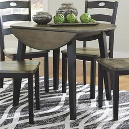Signature Design by Ashley Froshburg Round Drop Leaf Dining