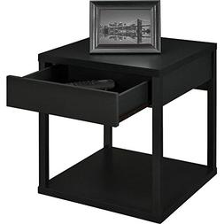 Dorel Home Furnishings End Table With Drawers Black