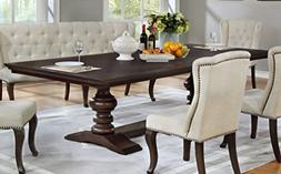 Best Quality Furniture D35T Beige Dining Table, Capuccino