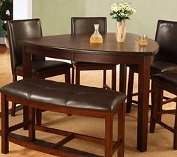 Best Quality Furniture D876T Modern Triangle Dining Table, C