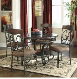 Signature Design by Ashley Glambrey Round Dining Table, Brow