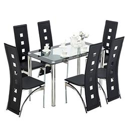 f4b6664670a76 7 Piece Dining Set Dining Table