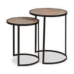 Kate and Laurel Gracen Metal and Wood Nesting Tables 2 Piece