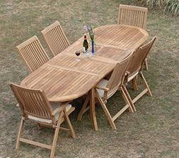 Grade-A Teak Wood Luxurious Dining Set Collections: 7 pc - 9