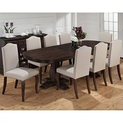 Jofran Grand Terrace 9PC Dining Table And Upholstered Chair