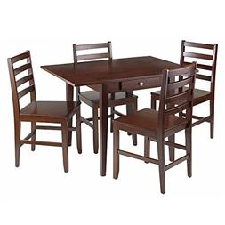 Winsome Wood Hamilton 5-Piece Drop Leaf Dining Table with 4-