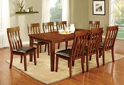 Furniture of America Harcourt 9-Piece Transitional Dining Se