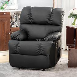 Merax Heated Vibrating PU Leather Massage Recliner Chair