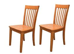 Kings Brand Furniture - Set of 2 Heavy Duty Solid Wood Dinin