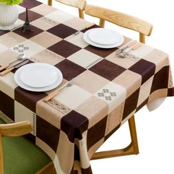 JZY Heavy Duty Vinyl Table Cloth for Kitchen Dining Table Wi