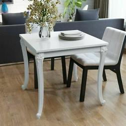 """Dining Table 31.5""""x31.5""""x30"""" High Gloss White"""