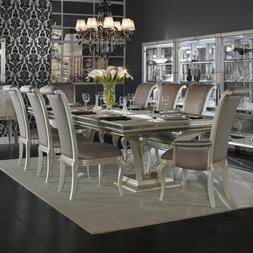 Hollywood Swank 9 Piece Trestle Dining Table and Chair Set B
