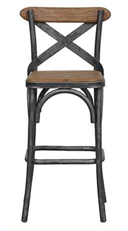 Kosas Home Dixon Rustic Brown and Black Reclaimed Pine and I