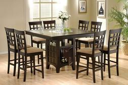 Coaster Home Furnishings 9 Piece Counter Height Storage Dini