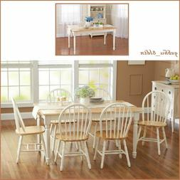 Farmhouse Dining Table Home Kitchen Solid Wood Cottage Dinin
