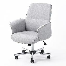 Home Office Chair Height Adjustable Task Chair Fabric Leisur