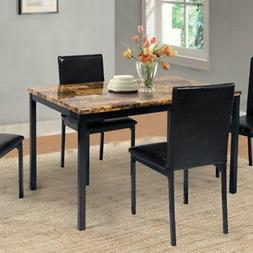 Home Source Madison Faux Marble Dining Table