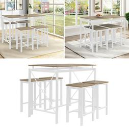 Hot 5 Piece Dining Table Set 4 Chair Wood Home Dining Room F