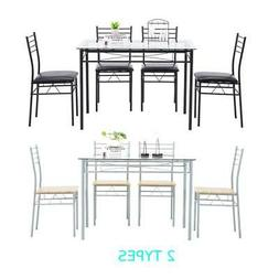 Hot 5 Piece Grass Dining Table Set 4 Chairs Kitchen Breakfas