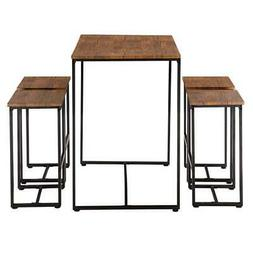 hot 5 piece wood dining table set