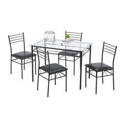 hot kitchen 5 piece metal dining table