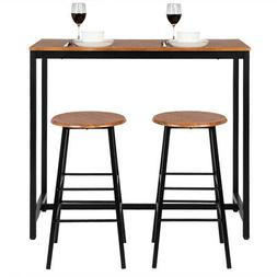 Hot Style 3 Piece Dining Set Table 2 Stools Pub Home Kitchen