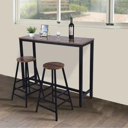 Bar Pub High Table Solid Wooden Square Kitchen Dining Room F