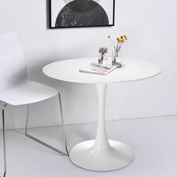 "32"" Inch Round Tulip Dining Table Coffee Table in White Eleg"