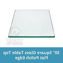 Square Glass Table Top 30 Inch Custom Annealed Clear Tempere