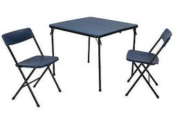 COSCO 3 Piece Indoor Outdoor Center Fold Table and 2 Chairs