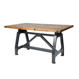 INK+IVY Lancaster Dining/Gathering Table in Amber/Graphite -