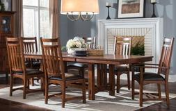 Intercon Oak Park Solid Red Oak Trestle Dining Table