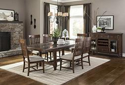 Intercon Wolf Creek Stone Top 7-piece Trestle Dining Set