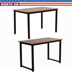 Iron Frame Dining Table Coffee Desk Rectangular Office/Home