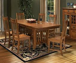 Janes Gallerie Mission Leopold 7 Pc Dining Set
