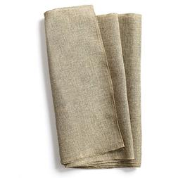 Ling's moment 14 x 96 Inch Brown Burlap Linen Table Runner f