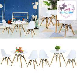 Kids Modern Dining Table Set With 2 Armless Chairs