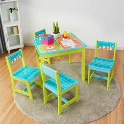 Kids Table and 4 Chairs Set For Toddler Baby Gift Desk Furni