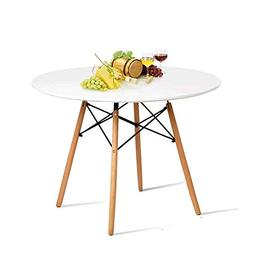 Hyhome Kitchen Dining Table Round Coffee Table Modern Leisur