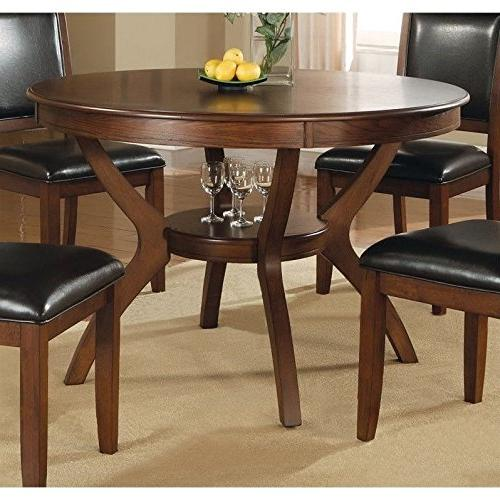 Coaster Nelms Dining Table With Shelf In