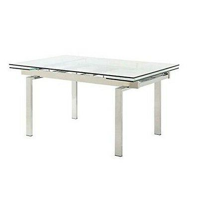 106281 dining table chrome new