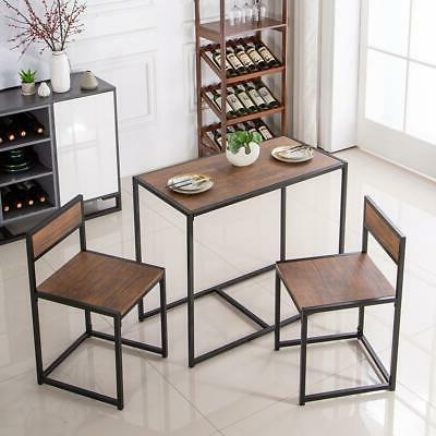 2 Seater Table And Chairs Breakfast Kitchen Room Small Furniture New
