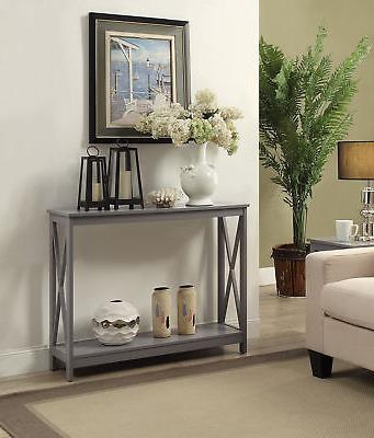 Oxford Console Table 203099GY, Gray Finish