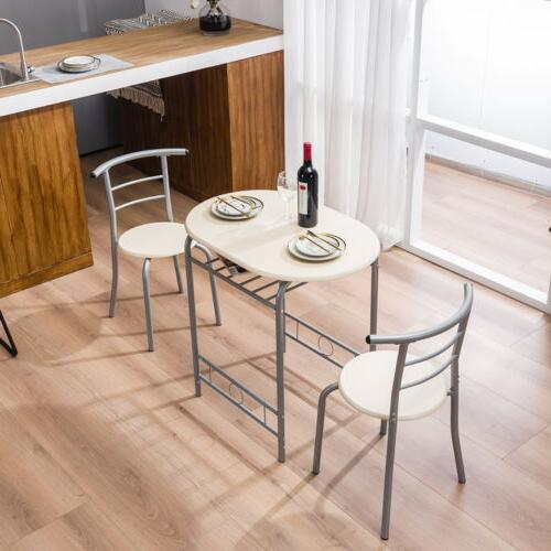 3 PCS Dining Set Chairs Home 3