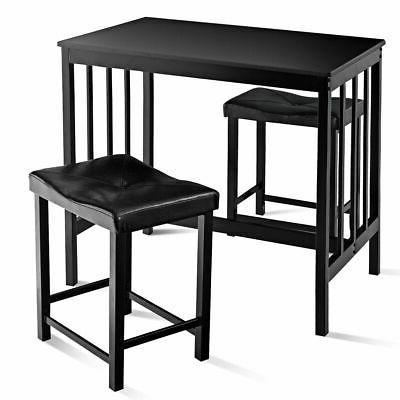3 PCS Modern Height Dining Set And 2 Chairs